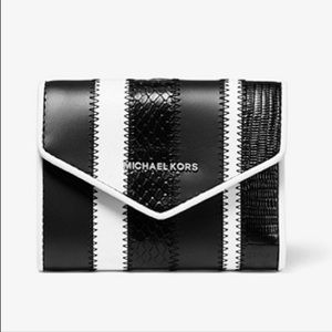 Michael Kors Small Striped Leather Wallet